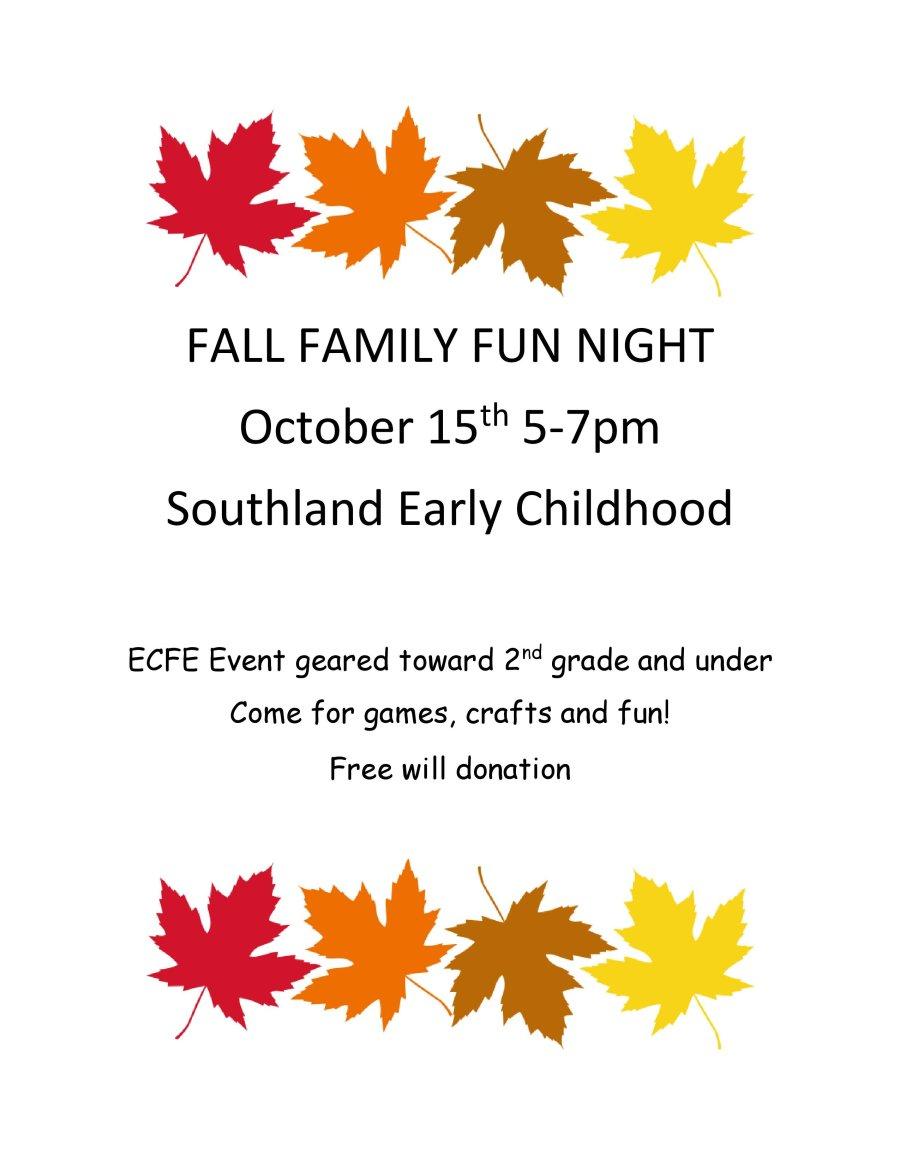 Fall Family Fun Night 2019